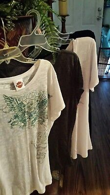 Harley Davidson  Lot Of 4 Womens Tops Plus Size