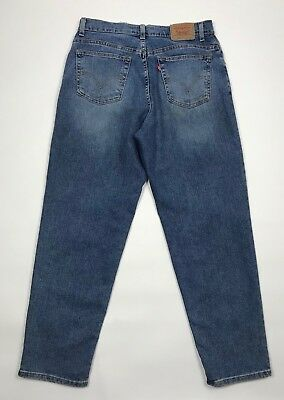 Levi's 550 Relaxed Fit Tapered Leg 12 S Mom Jeans High Rise Womens Vintage 32X29