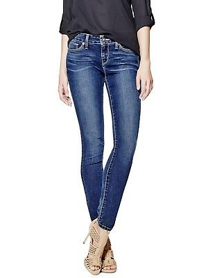 GUESS Factory Women's Sienna Curvy Skinny Jeans in New Dark Wash