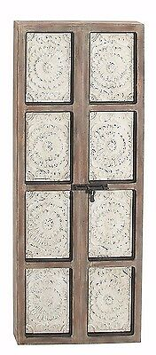 Decorative Rustic Distressed Antique Vintage Wood Iron Door Panel Wall Art Decor