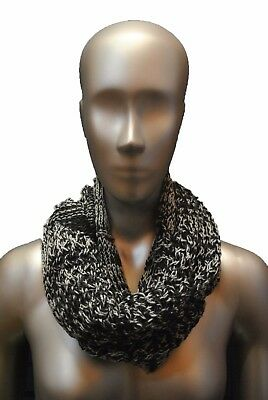 The North Face Women's Knitting Club Scarf in TNF Black High Rise Grey NEW