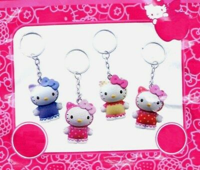 Porte Cle Clef Porte-Cle 3D Hello Kitty Poupee Rose Violet Rouge Jaune Neuf