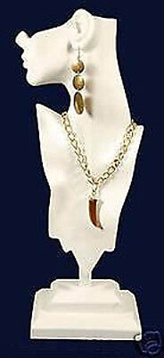 White Mannequin Pendant Necklace Displays Jewelry Bust