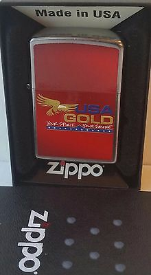 Zippo Lighter USA Gold. RJR New In Box Vintage 2010 RARE Your Smoke
