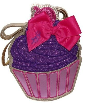 NWT JoJo Siwa Cupcake Cross body Bag Purse Handbag Bow Pink Purple Gold