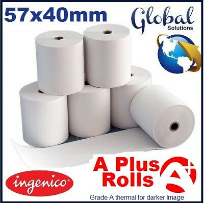 Ingenico 57x40mm Thermal Paper Credit Card PDQ Chip & Pin Machine Rolls