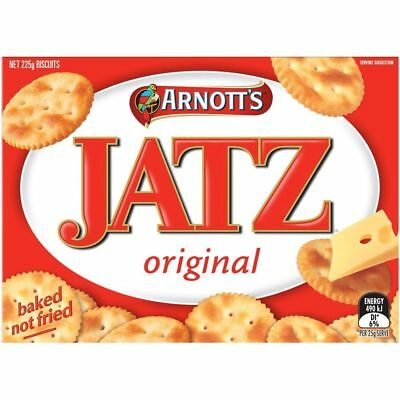 036914 ARNOTTS BISCUITS JATZ ORIGINAL BAKED SAVOURY SNACKS CRACKERS  225g Box