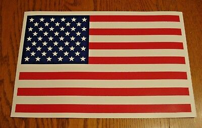 """AMERICAN US FLAG 100% MAGNETIC SIGN - 8""""x12"""" Silk Screen Printed Inhouse"""