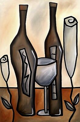 Red Wine season beautiful abstract wall art canvas home decor painting Modern