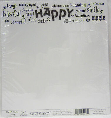 "5 x Hot Off The Press 8""x8"" Acetate Overlay Happy For Card Making & Scrapbooking"