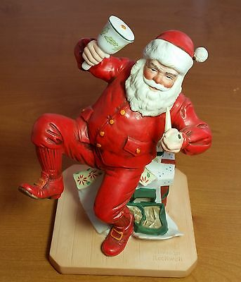 "Christmas Norman Rockwell ""Ringing In Good Cheer"" Santa Clause Figurine 7"" Tall"