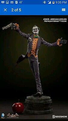 Sideshow Collectibles DC Comics Arkham Asylum Joker Premium Format Figure New