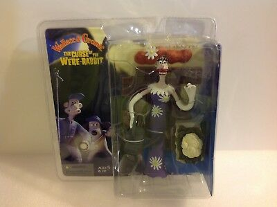 McFarlane Wallace & Gromit The Curse of the Were-Rabbit Lady Tottington 2005.New
