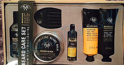 Tri Coastal Design Mens Beard Care Set Milagu Black 6 Pc Gift Set