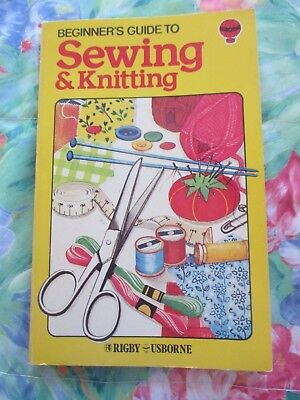Beginner's Guide To Sewing & Knitting ~ Vintage 1979 Usborne Book