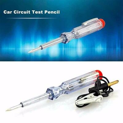 Light Truck Car Circuit Voltage Tester Pen Probe Test Clip Tool DC 6V/12V/24V