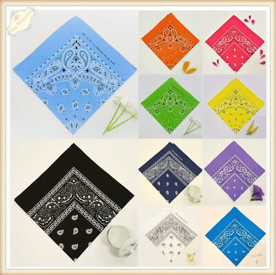 X6 X12 Bulk Bandana Paisley Cotton Head Wrap Wristband Summer Biker Scarf Mask