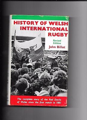 History Of Welsh International Rugby Revised Edition 1971 John Billot H/B