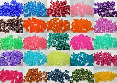 50 - 12mm Round Translucent Faceted Acrylic / Plastic Beads - Color Choice