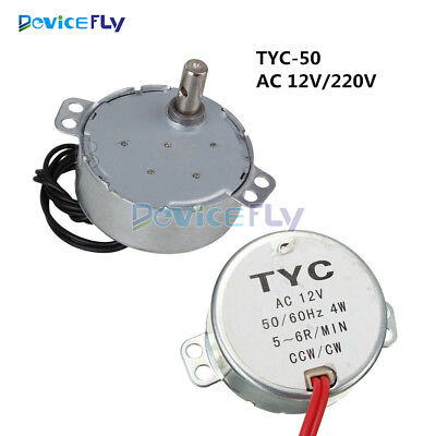 TYC-50 AC 12V/220V 50/60Hz Synchronous Motor 5/6RPM CW/CCW 4W For Microwave