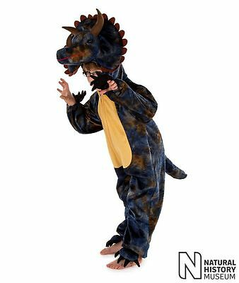 Kids Childrens Boys Triceratops Dinosaur Fancy Dress Costume Outfit Age 3-5-7-9