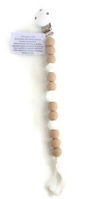 NEW BPA Free Silicon Bead Dummy Clip Pacifier Chain Teething