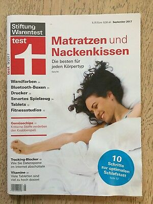 stiftung warentest 09 september 2017 matratzen u a. Black Bedroom Furniture Sets. Home Design Ideas