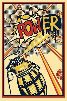 SHEPARD FAIREY ♦ POWER ♦ lithographie SIGNEE ♦ OBEY GIANT MINT
