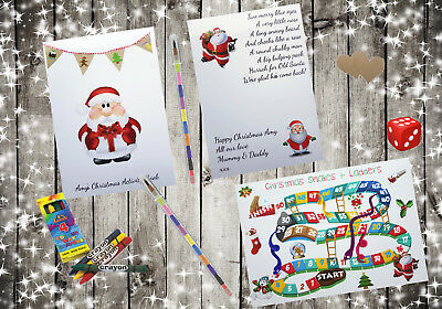 Personalised Childrens Kids Christmas Activity Pack Book Gift Present CB2