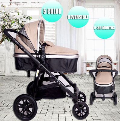 4 in 1 Travel System Pram Baby Stroller With Baby Bassinet Buggy Newborn Jogger