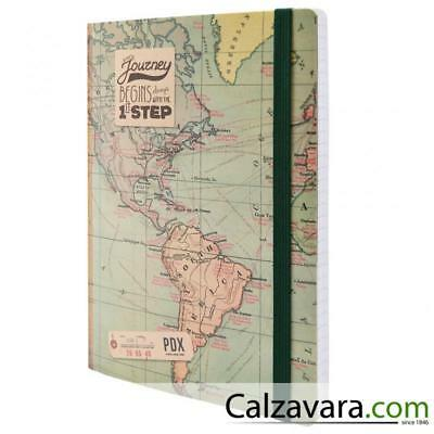 Legami - Notebook Taccuino Photo - Large cm 17x24 - a Righe Lined - Map