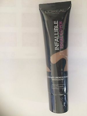 L'OREAL  infallible total cover foundation 35g - VARIOUS USE DROP DOWN MENU