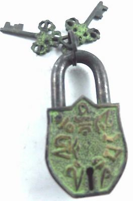 New Collection of Vintage Antique Finish Handcrafted Brass Pad Lock With Keys