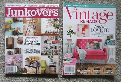Lot of (2) - VINTAGE REMADE & JUNKOVERS Magazines ~ Decorate ~ Flea Market ~ NEW