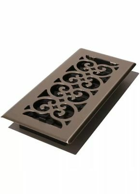 Set of 2 - Decor Grates Scroll Steel Nickel Floor Register 4X12'' - SPH412-NKL