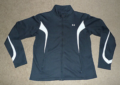 Womens L Large Under Armour UA Full Zip Track Athletic Warm Up Jacket Sweat