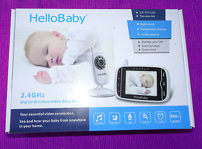 HelloBaby HB32 3.2' Digital Funk TFT LCD Drahtloser Video Baby Monitor