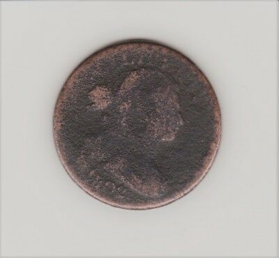 1802 Draped Bust Large Penny   Nice Detail Free Shipping