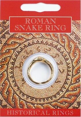 Roman Double Headed Snake Ring - Gold Plated