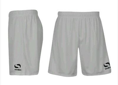 Boys Sondico Football Training Shorts White Sports Running Rugby Size 2-3 Years