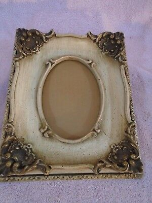 "VINTAGE 5"" x 7"" FANCY WOOD PICTURE FRAME"