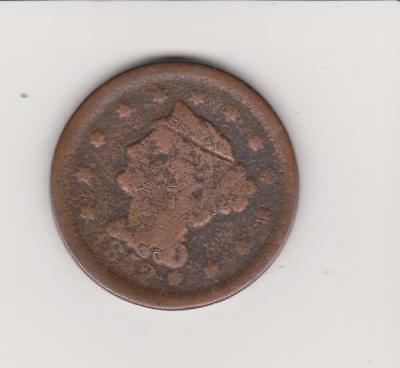 1852 Large Penny  Free Shipping