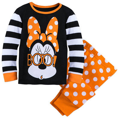 Disney Authentic Minnie Mouse Scary BOO! PJ Pals Girls Size 0 3 6 12 18 Months