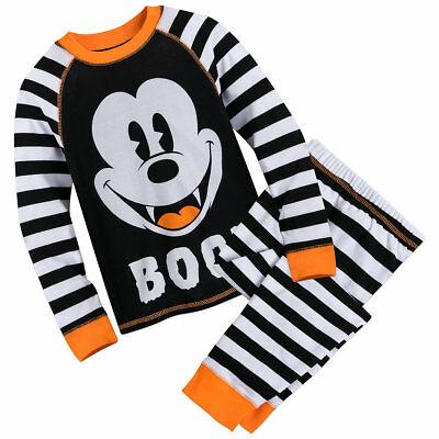 f199fb27ec6 Disney Mickey Mouse Halloween PJ Pals Boys Baby Size 0 3 9 12 18 24 Months