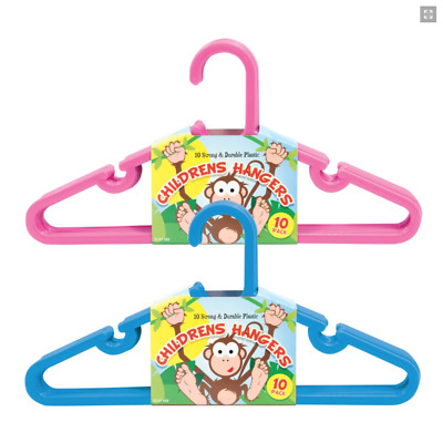 New Childrens 10 Pack Kids Coat Clothes Hangers Hanging Baby Toddler Trousers