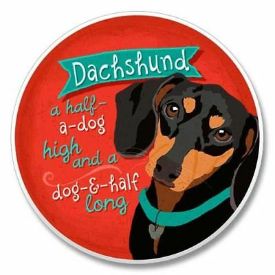 Dachshund Doxen AbsorbaStone stone coaster for Car Truck SUV Made in USA NEW