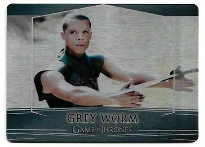 2017 Game of Thrones Valyrian Steel Base Metal Card #30 Grey Worm