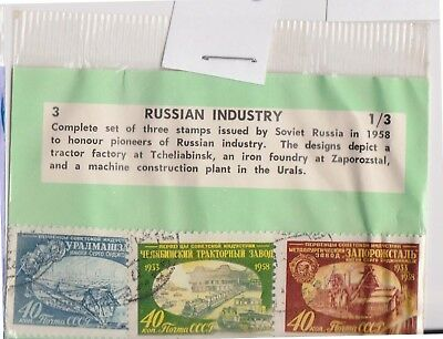 (V1-93) 1958 Russia old stamps pack 3 stamps industry (CR)