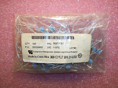 Qty (100) 2027-15-C Bourns Axial Gas Discharge Tubes 150V