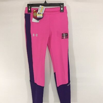NWT Girl's Under Armour UA Storm ColdGear Infrared Fitted Leggings Youth XL Pink